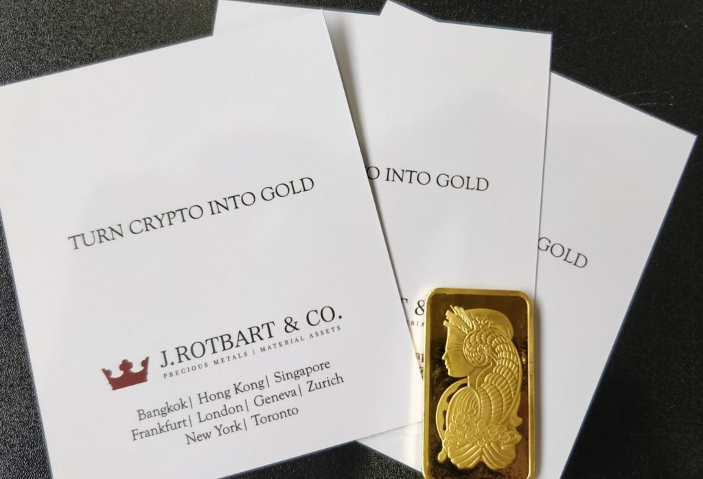 Turn Crypto into Gold